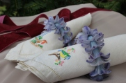 Hyacinth napkin rings